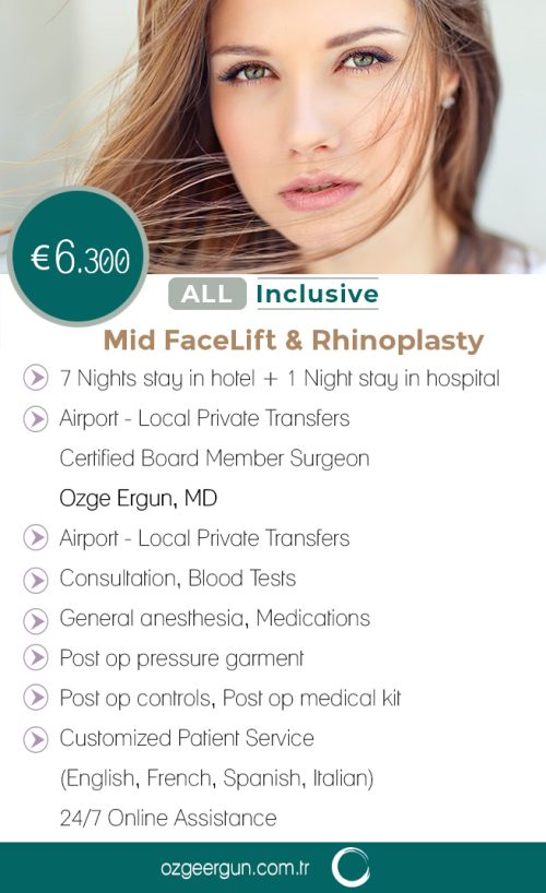 Mid FaceLift & Rhinoplasty All Inclusive Package