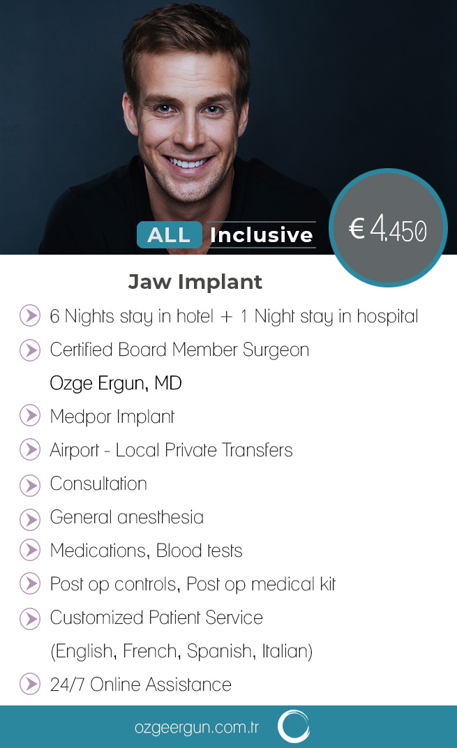 Jaw Implant man All Inclusive Package